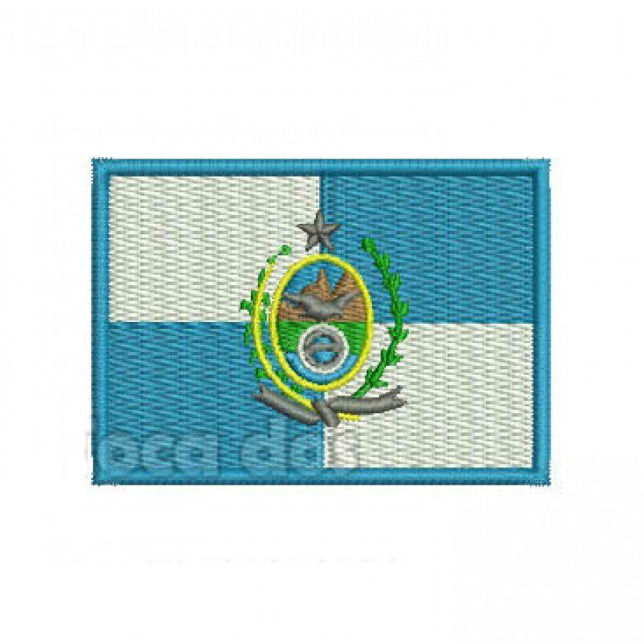 Patch Bordado Bandeira Rio de Janeiro - 5 x 7 Cm  - Race Custom