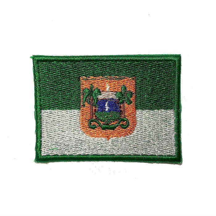 Patch Bordado Bandeira Rio Grande do Norte - 5 x 7 Cm  - Race Custom