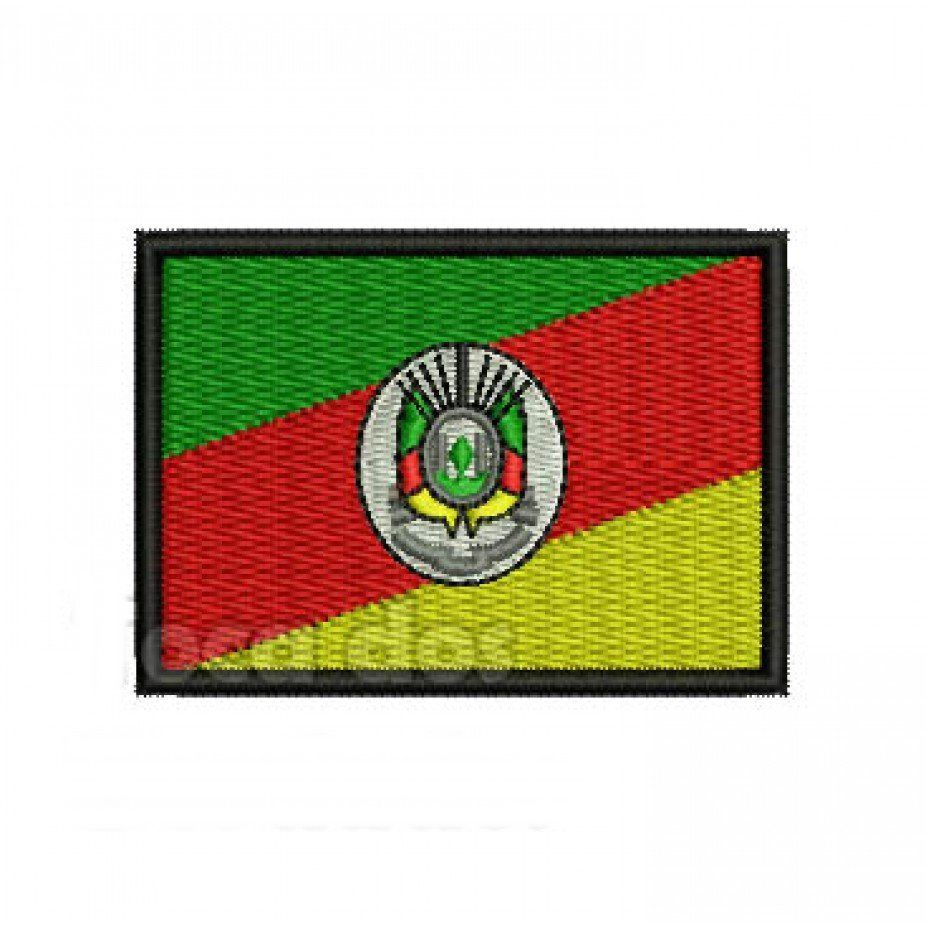 Patch Bordado Bandeira Rio Grande do Sul - 5 x 7 Cm  - Race Custom