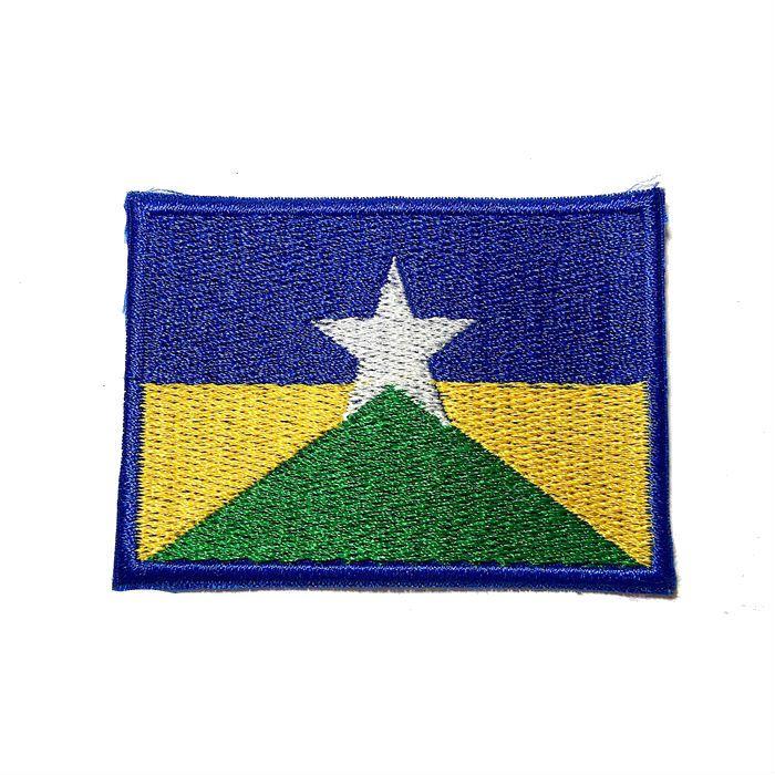 Patch Bordado Bandeira Rondônia - 5 x 7 Cm  - Race Custom