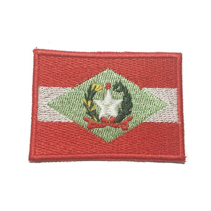 Patch Bordado Bandeira Santa Catarina - 5 x 7 Cm  - Race Custom