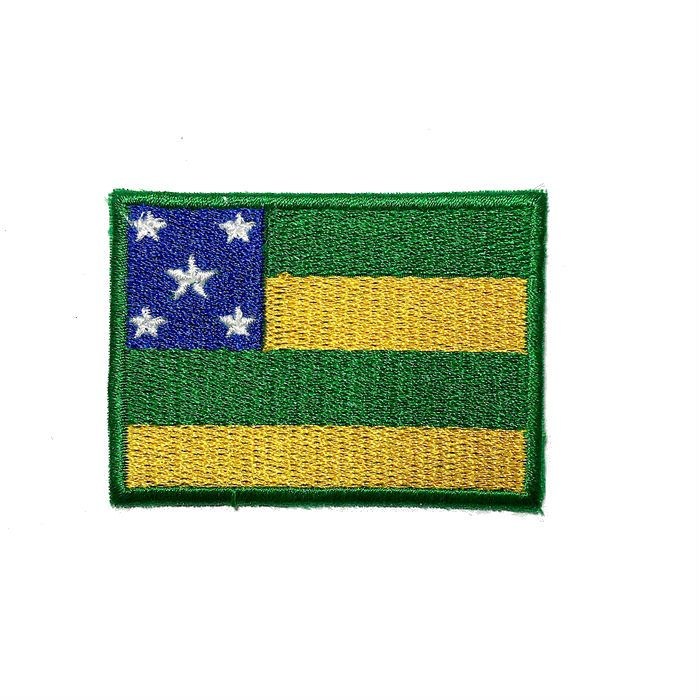 Patch Bordado Bandeira Sergipe - 5 x 7 Cm  - Race Custom
