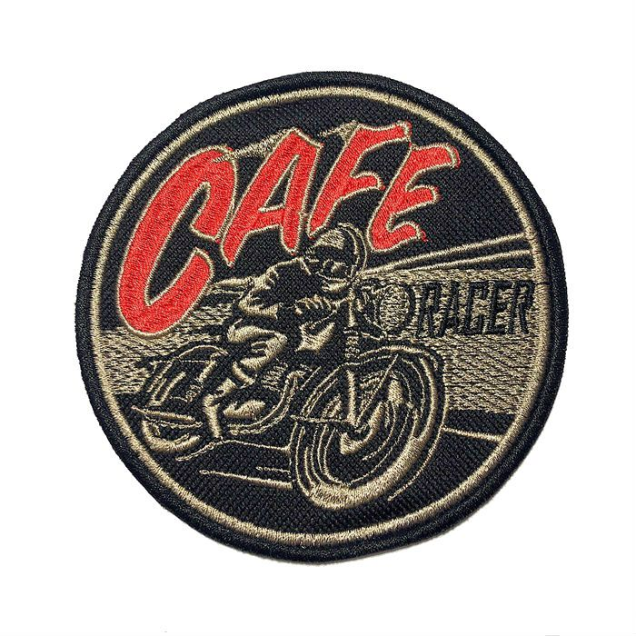 Patch Bordado Cafe Racer  - 10 X 10 CM  - Race Custom