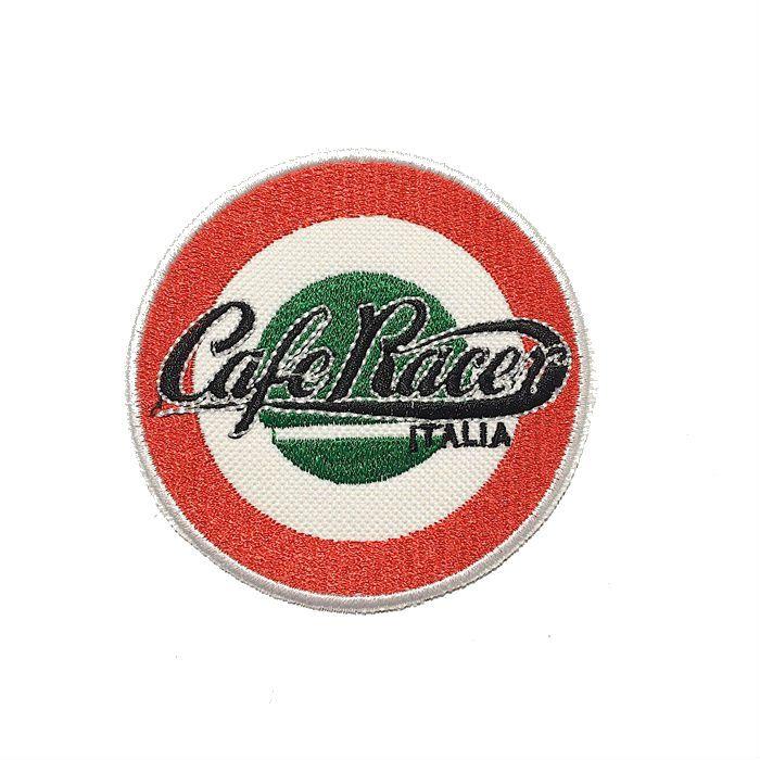 Patch Bordado Cafe Racer Itália - 8 x 8 Cm  - Race Custom