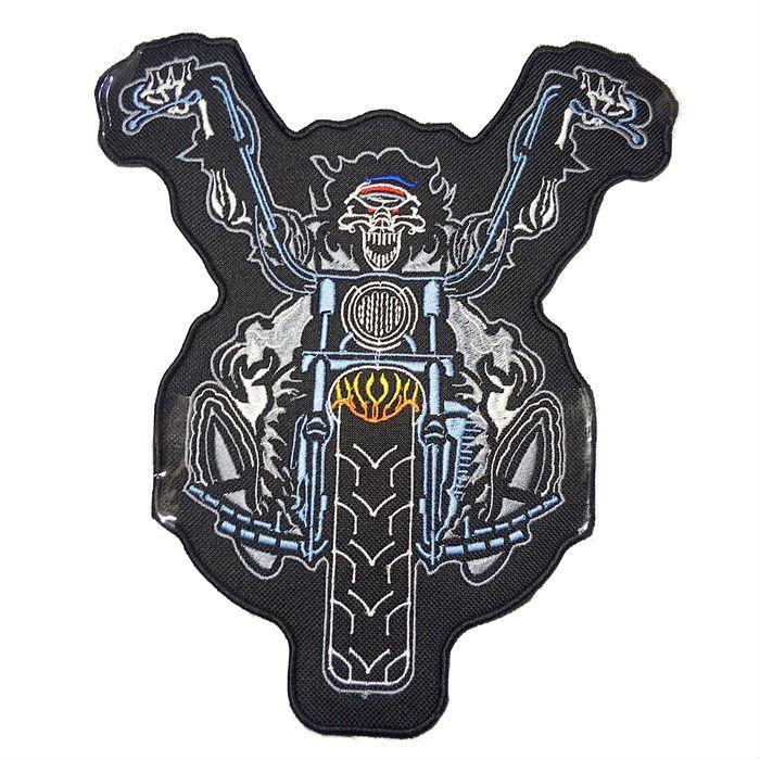 Patch Bordado Crazy Rider - 22 x 20 Cm - Sem Termocolante  - Race Custom