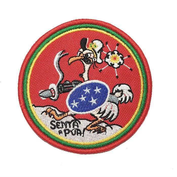 Patch Bordado FEB-  Senta Pua - 10 cm  - Race Custom