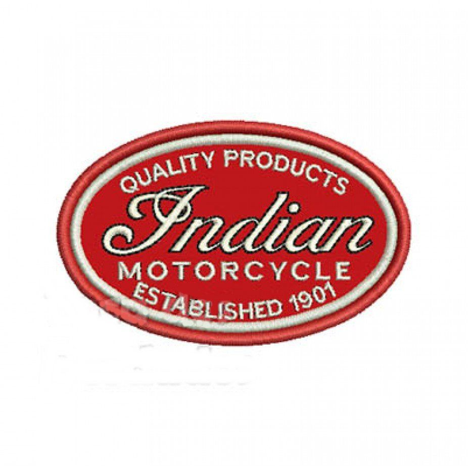 Patch Bordado Indian Motorcycle - 5,5 x 9 Cm  - Race Custom