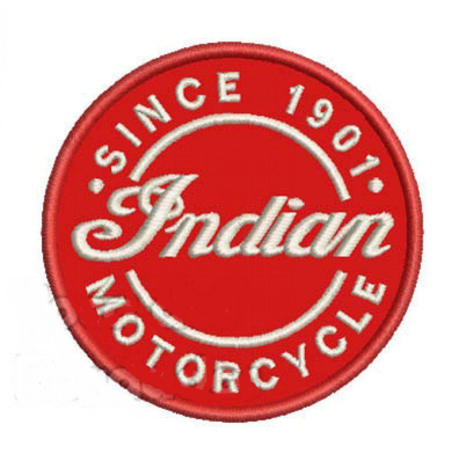 Patch Bordado Indian Motorcycle - 8 x 8 Cm  - Race Custom