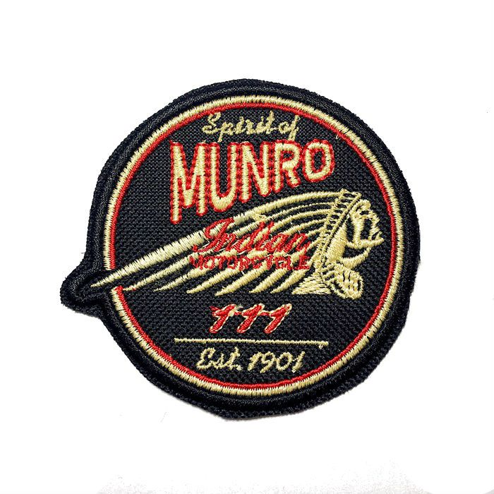 Patch Bordado Indian Munro - 7,5 X 8 Cm  - Race Custom