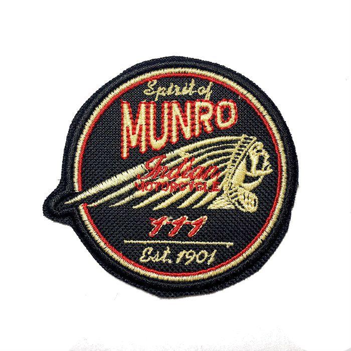 Patch Bordado Indian Munro - 7,5 X 8 Cm  - Race Custom
