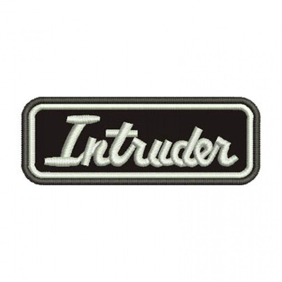 Patch Bordado Intruder - 3,5 X 10 Cm  - Race Custom