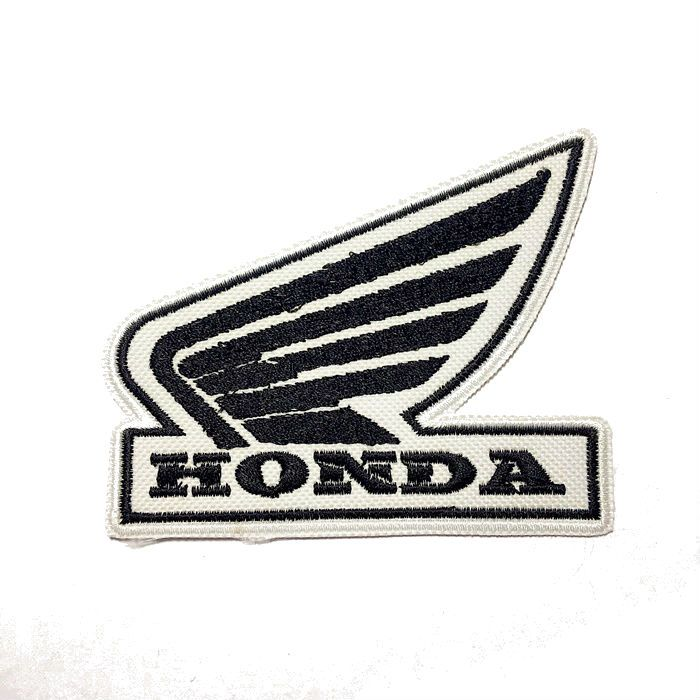 Patch Bordado Logo Honda Asa Preta - 8 X 10 Cm  - Race Custom