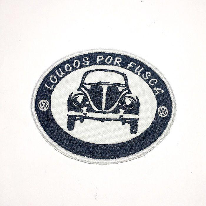Patch Bordado loucos por Fusca - 8 X 10 Cm  - Race Custom
