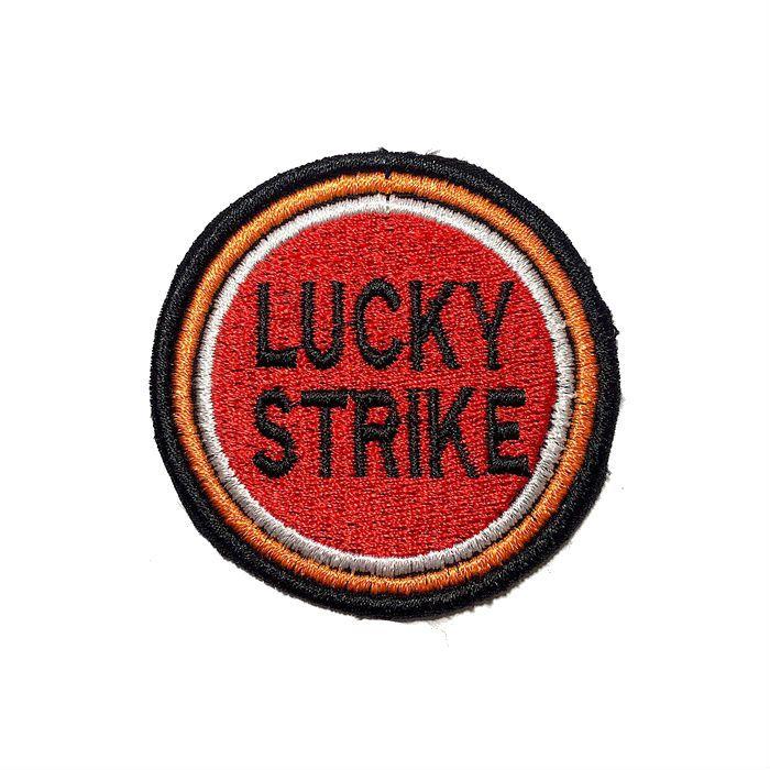 Patch Bordado Lucky Strike - 6 x 6 Cm  - Race Custom