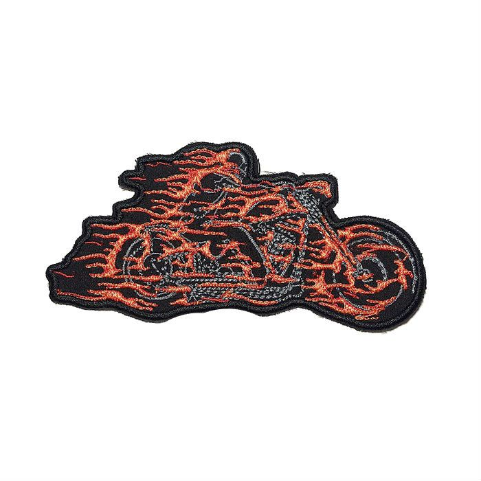 Patch Bordado Motoqueiro Fantasma - 6 x 12 Cm  - Race Custom