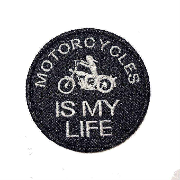 Patch Bordado Motorcycle Is My Life - 7,5 X 7,5 Cm  - Race Custom