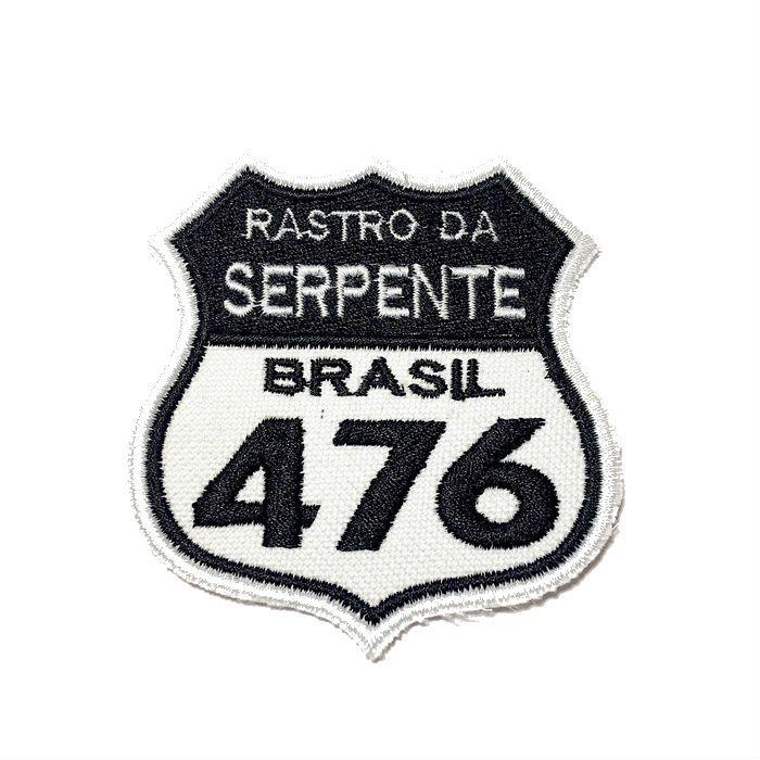 Patch Bordado Rastro da Serpente - 7,5 x 7 Cm  - Race Custom