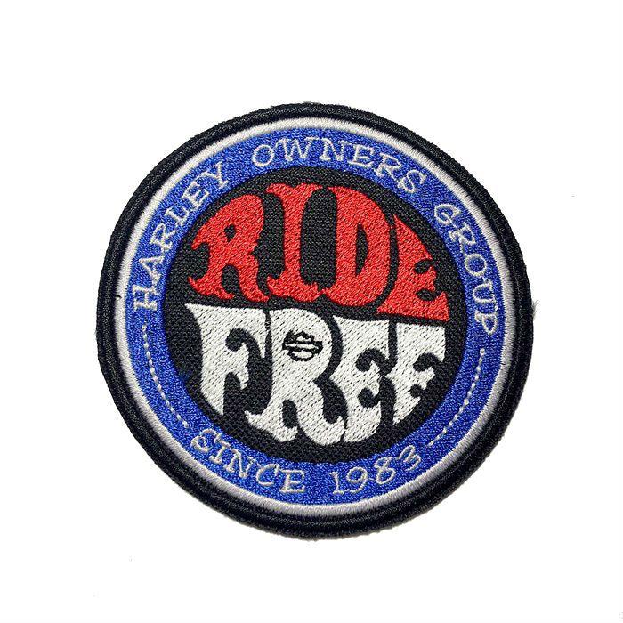 Patch Bordado Ride Free - 9 cm  - Race Custom