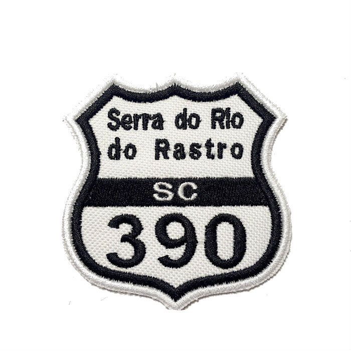 Patch Bordado Rota 390 Serra Rio do Rastro - 7,5 X 7 CM  - Race Custom