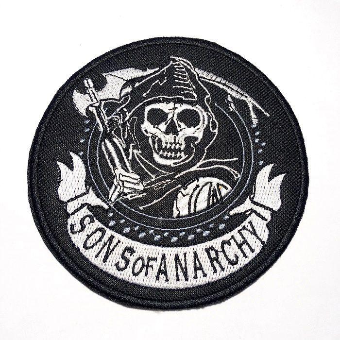 Patch Bordado Sons Of Anarchy - 12 x 12 Cm  - Race Custom