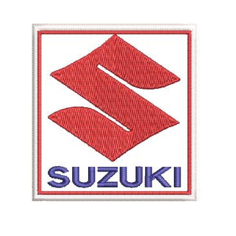 Patch Bordado Suzuki - 7 X 6,5 Cm  - Race Custom