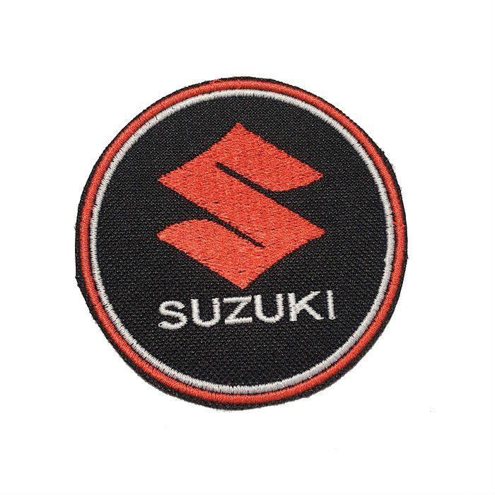 Patch Bordado Suzuki - 8 x 8 Cm  - Race Custom