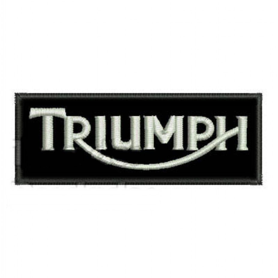 Patch Bordado Triumph - 3,5 X 10 CM  - Race Custom