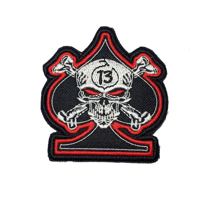 Patch Bordado Valete Skull 13  - 8,5 x 8 cm  - Race Custom