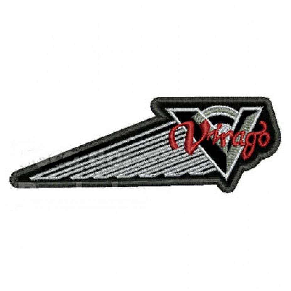 Patch Bordado Virago Logo - 3,5 x 11 Cm  - Race Custom