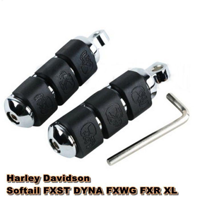 Pedaleiras para Harley Davidson Caveira - Vários Modelos - PAR  - Race Custom