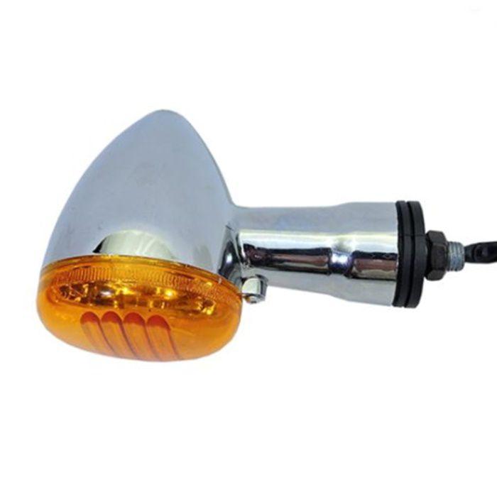 Pisca Custom Mod Intruder 125 Cromado Lente Laranja - Dianteiro  - Race Custom