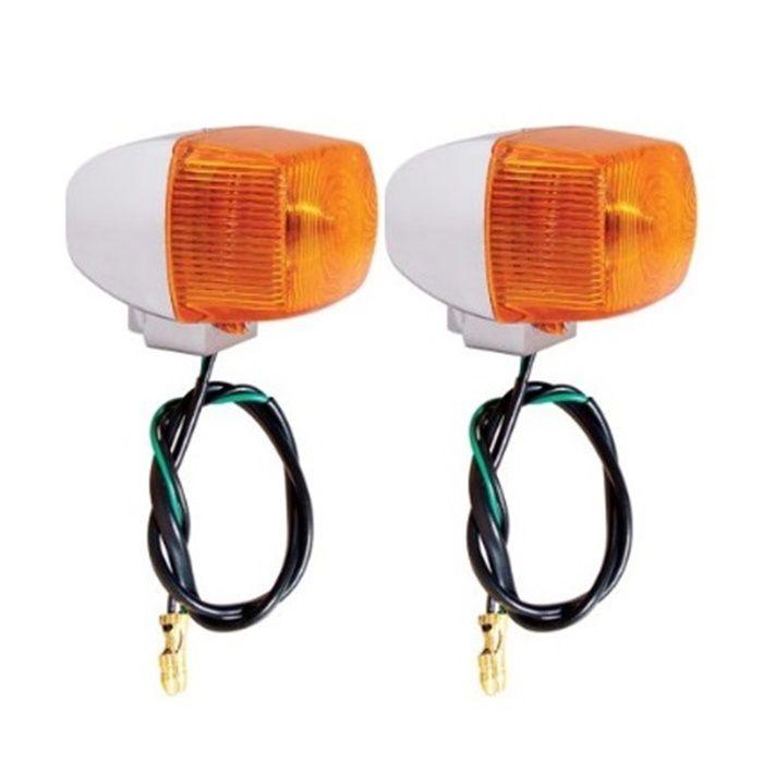 Pisca Médio Retangular Cromado com Lâmpada - PAR  - Race Custom