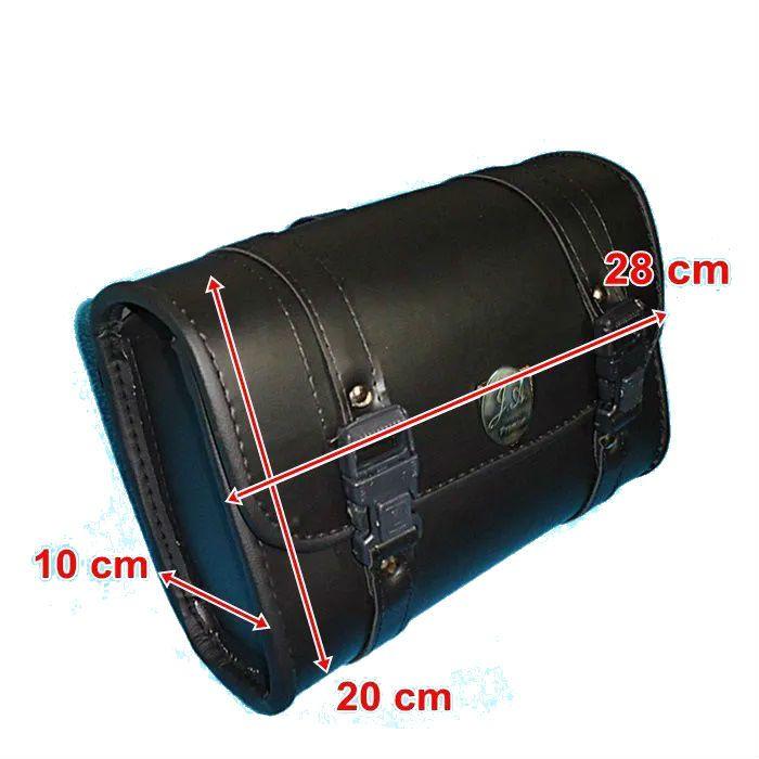Porta Ferramenta Bolsa Moto Custom Liso 3 Litros Couro Legítimo  - Race Custom