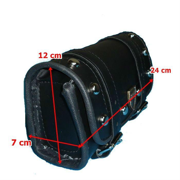 Porta Ferramenta Moto Custom Retangular Preto Com Cravo 1,2 Litros  - Race Custom