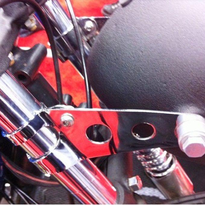 Suporte para Farol Café Racer Cromado - PAR  - Race Custom