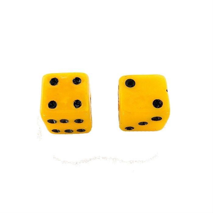 Tampa para Valvula Ventil Par - Dado Amarelo  - Race Custom