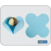Forminha p/ doces Azul - 3,50x3,50 - Pct. 50 Unid.