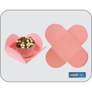 Forminhas p/ doces  Rosa - 3,50x3,50 - Pct. 50 Un.