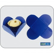 Forminhas p/ doces - Azul - 3,50x3,50 - Pct. 50 Un.