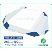 Papel OffSet Sulfite - 240 gr. - A4 (210x297mm) - 100 fls.