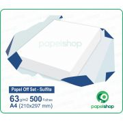Papel OffSet Sulfite - 63 gr. - A4 (210x297mm) - 500 fls.