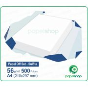 Papel OffSet Sulfite - 56 gr. - A4 (210x297mm) - 500 fls.