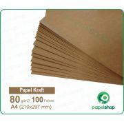 Papel Kraft - 80 gr. - A4 (210x297mm) - 100 fls.