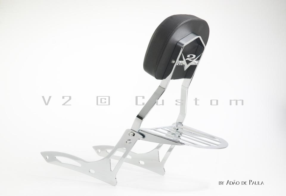 Sissybar completo V2 Custom para Shadow 750cc 2011 a 0km  - Fabiana Dubinevics - Ofertão Virtual