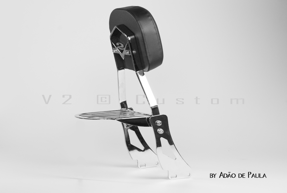 Sissybar completo V2 Custom para Mirage 250cc  - Fabiana Dubinevics - Ofertão Virtual