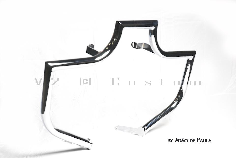 Protetor de Motor Tubular V2 Custom para Boulevard 800cc  - Fabiana Dubinevics - Ofertão Virtual