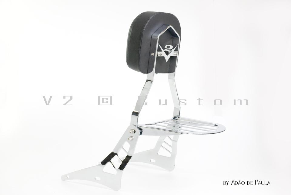 Sissybar Completo V2 Custom para Horizon 250  - Fabiana Dubinevics - Ofertão Virtual