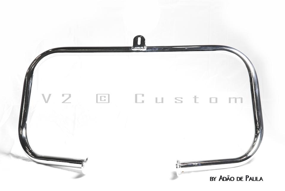 Protetor de Motor Tubular V2 Custom para HD Softail  - Fabiana Dubinevics - Ofertão Virtual