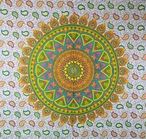 Canga Casal Mandala Sol Colorido