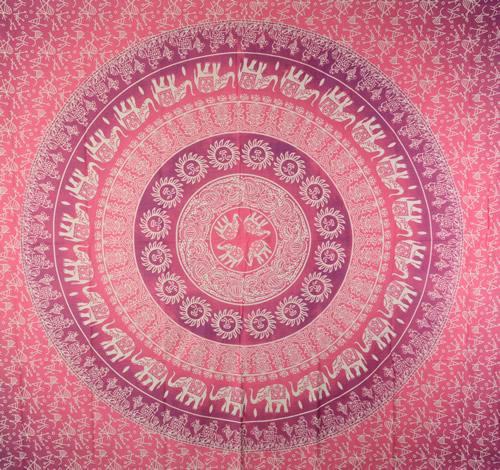 Canga Casal Mandala Elefante Rosa